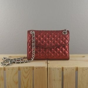 REBECCA MINKOFF | red quilted affair crossbody bag